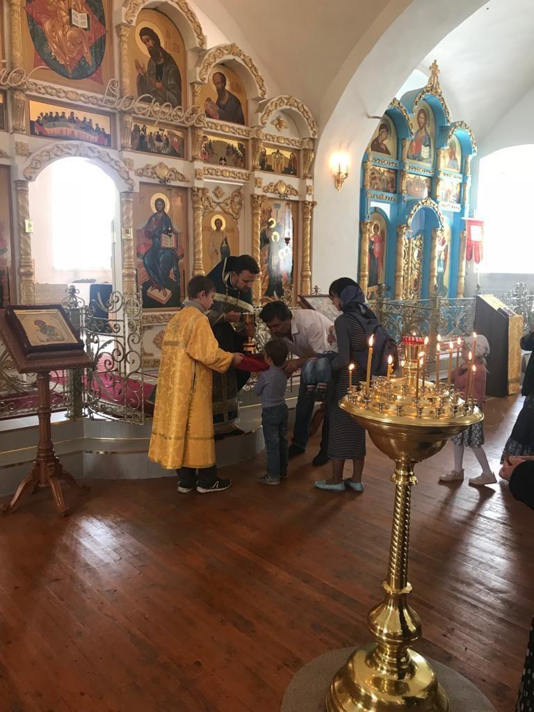Праздничное богослужение в Богоявленском храме