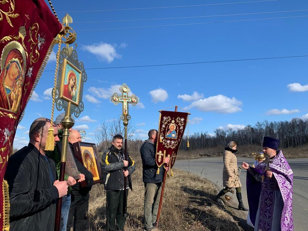Крестный ход в селе Вишняково