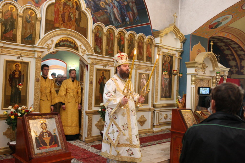 Архиерейское богослужение в с. Софьино