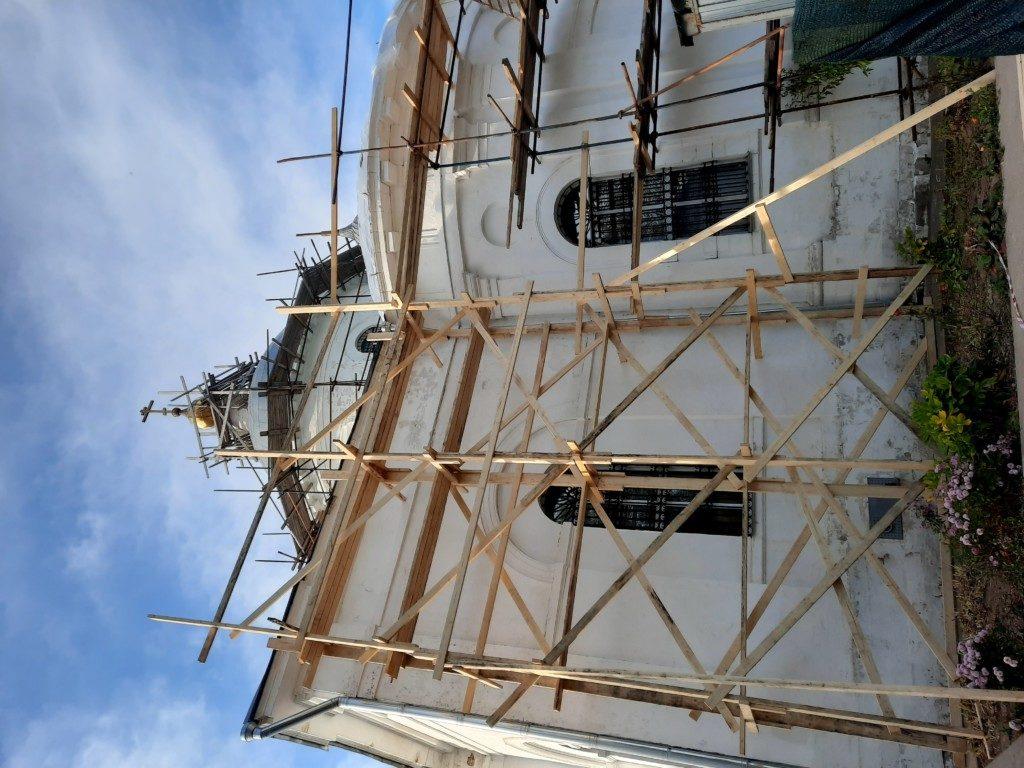 Начало восстановительных работ в Иерусалимском храме г. Бронницы